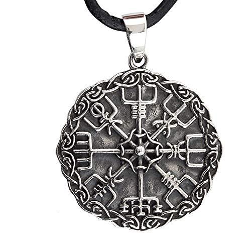 Toms-Silver Anhänger Wikinger Kompass Vegvisir 925 Silber Durchmesser 2,8 cm