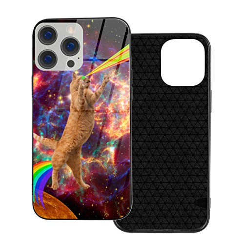 RTBB Iphone 12 Glass Case 3D Space Cats Galaxy Rainbow Flexible Soft Tpu Protection Back Toughened Glass Protective Shockproof Cover Cases For Iphone 12/12 Pro/12 Mini/12 Pro Max