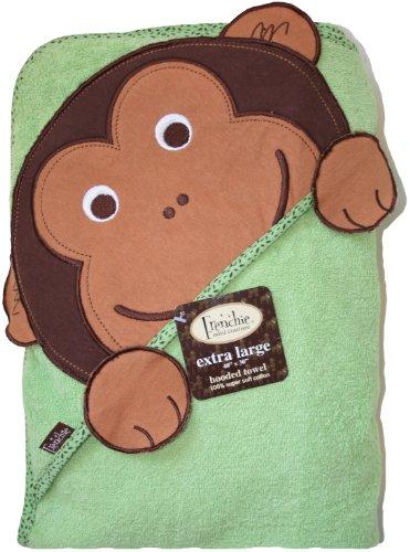 Frenchie Mini Couture Extra Large Hooded Towel, Monkey - XL Kapuzen Badetuch - Affe - aus USA