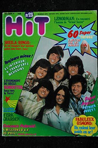 Hit 23 1973 décembre SHEILA RINGO Eric CHARDEN LENORMAN Patrick JUVET