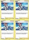 Pokemon - Skyla - Rebel Clash x4 Card Playset - 166/192 Uncommon