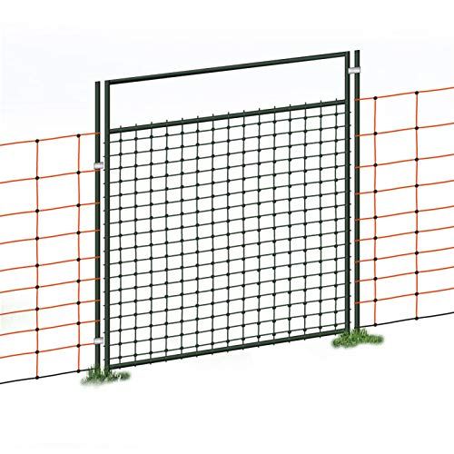 Puerta acceso a cercado eléctrico con malla electrificada, electrificable, para pastor eléctrico,...