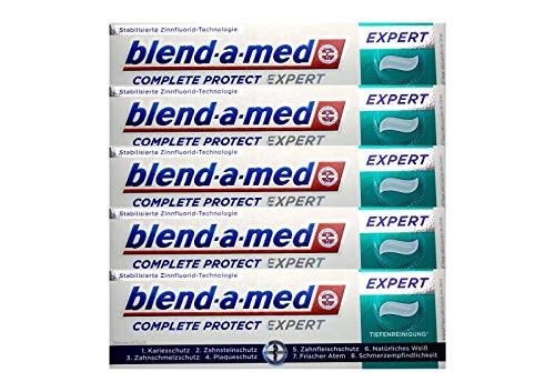 5x blend-a-med Complete Protect EXPERT Tiefenreinigung Zahnpasta 75ml