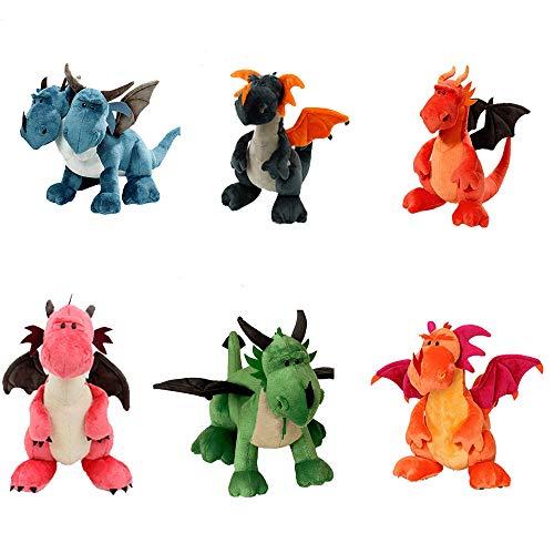 Dinosaurier plüschtier 35 cm 6pcs / Lot Dinosaurier Plüschtier Doppelköpfige Tiere Kuscheltiere Cartonn Anime Zweiköpfiger Drache Für Kinder Kinder Jungen Geschenk