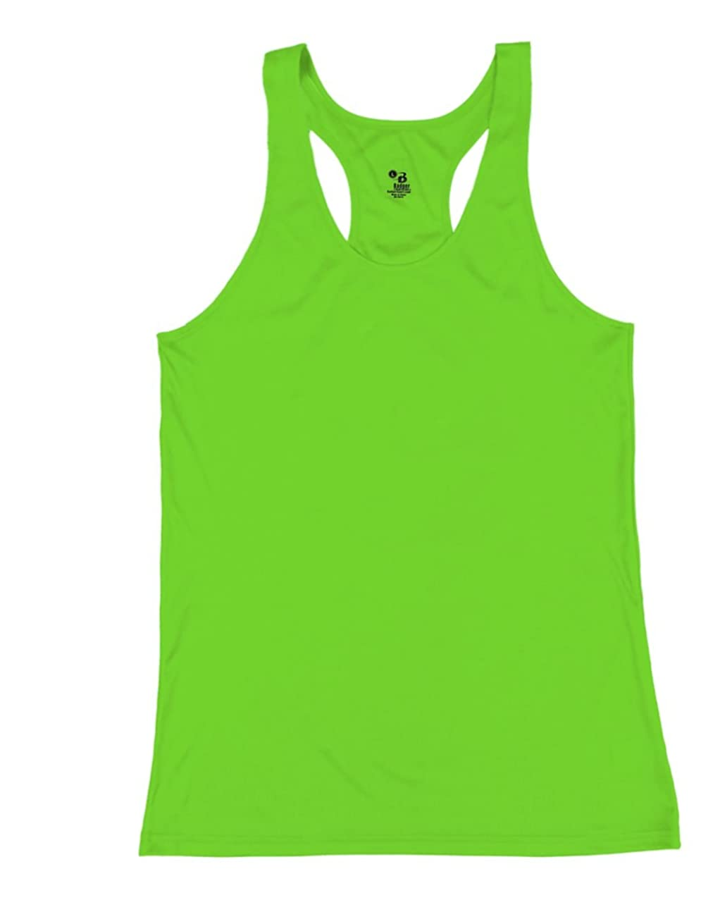 Lime Bright Green Ladies Large B-Core Moisture Wicking Racerback Tank Sports Top
