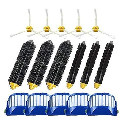 ZRNG AeroVac Filtro Lateral Cepillo de cerdas de Cepillo batidor Apto for el iRobot Roomba 600 610 625 630 650 660 Piezas de Robot Accesorios for aspiradoras (Color : Hcy 6001)