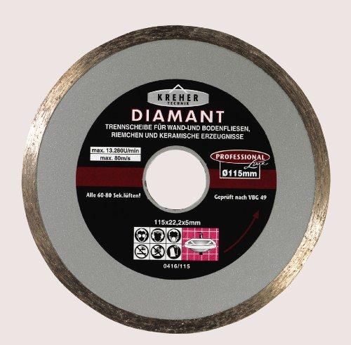 Kreher/Toroflex - Diamanttrennscheibe | Trennscheibe - Serie 416 - Vollrand - Durchmesser 150 mm - Bohrung 22 mm - Segmenthöhe 5 mm - Ideal geeignet für Wand- und Bodenfliesen, Riemchen, Keramik