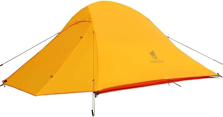 Tenda da campeggio 2 posti 3-4 stagioni doppio strato tenda a cupola geertop STP-2P