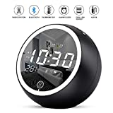Uplift Alarm Clock Radio,Bluetooth V5.0,Hi-Fi Speaker,Dual Alarms with Snooze,Digital Display with dimmer,Dual...
