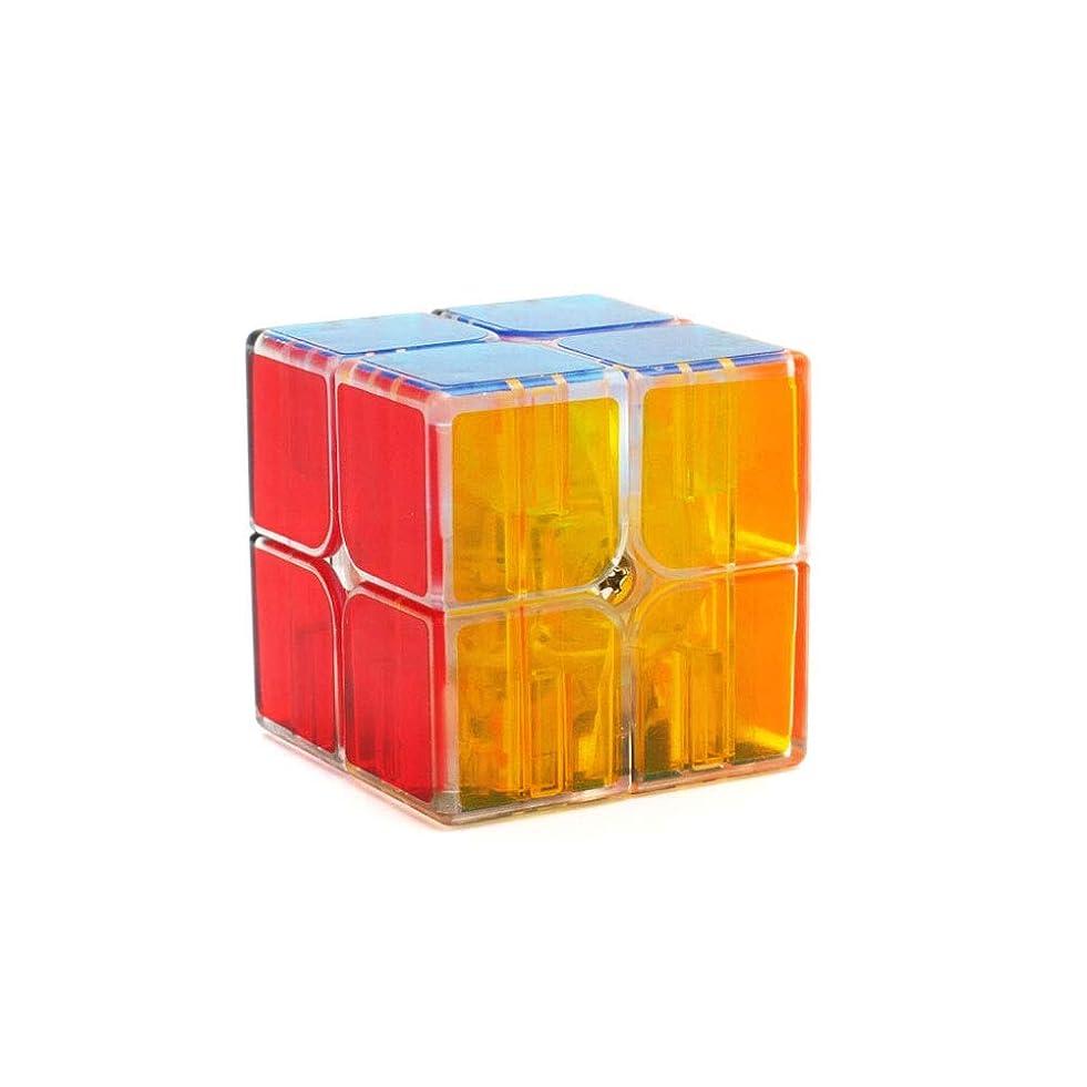 教育学クラブところでルービックキューブ、透明スタイルスムースデザインキューブ、ギフトとして使用可能、スムーズデザインスタイル(2次/ 3次/ 4次) (Edition : Second order)