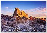 Panorama Póster Montaña Croda dei Toni 100 x 70 cm - Láminas Decorativas Pared - Impreso en Papel 250gr - Cuadros Paisajes - Póster Naturaleza - Cuadros Decoración Salón