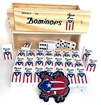 Puerto Rico Dominoes Puerto Rican Flag Dominoes Set  Boricua Pride Dominoes