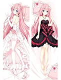 Angelife Megurine Luka - Vocaloid Soft Body Pillowcase Peach Skin Double Sided Throw Pillow Case Cushion Cover 160 x 50cm(62.9in x 19.54in)