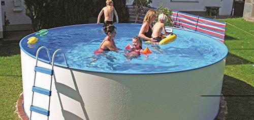 """Pool """"Familia Nuovo rund 550 x 120"""" (Ø 550 x 120 cm, weiß, mit Sandfilteranlage)"""