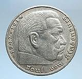 1936 DE 1936 Germany 2nd President Paul von Hindenburg AR coin Good Uncertified