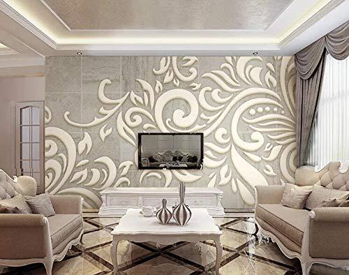 """3D Bladgoud Patroon WG0534 Behang Afdrukken Decal Deco Binnen Muur Muurschildering Zelfklevend Behang AJ WALLPAPER NL Muzi (Vinyl (geen lijm en verwijderbaar), 【205""""x114""""】520x290cm(WxH))"""