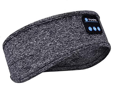 Auriculares Bluetooth V5.0, inalámbricos, deportivos, con altavoces estéreo HD ultrafinos, perfectos para deportes, para dormir de lado, viajes en avión, meditación y relajación.