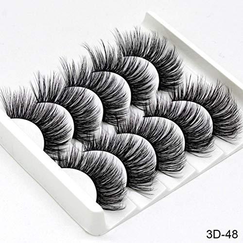CWJCZY 5 Paires 3D Faux Cils de Vison Faux Cils Longs Cils Wispy Maquillage Outils d'extension de beauté Wimpers 13 Styles