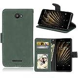 Ycloud Portefeuille Coque pour BQ Aquaris U/U Lite (5.0'') Smartphone, Mate Texture PU Cuir Flip...