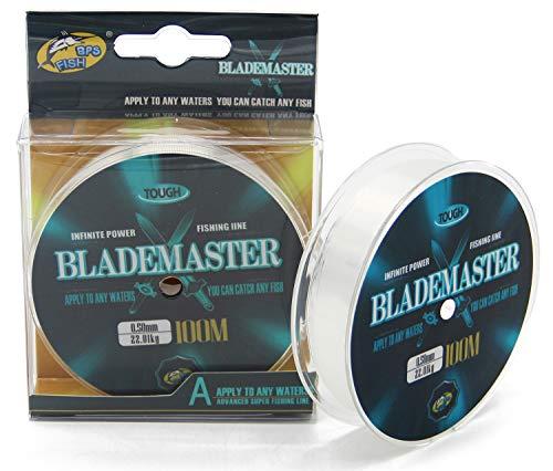 BPS Línea Hilo de Pesca Nylon Monofilamento (0.35 mm 14.76KG, 200 M) Color Transparente Multifilamento Material Súper Fuerte Pesca Profesional OZL-03815
