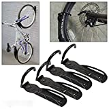 ADEPTNA ® Set of 4 Heavy Duty Vertical Wall Mounted Bicycle Storage Hanging Hooks - Suitable For Indoor Or Outdoor Use