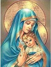 Pintura De Diamante Virgen María Cristo Túnica Diamante Pintura Iconos Religiosos Imágenes Diy 3D Diamante Bordado Jesús Azul Con Dibujos De Mosaico