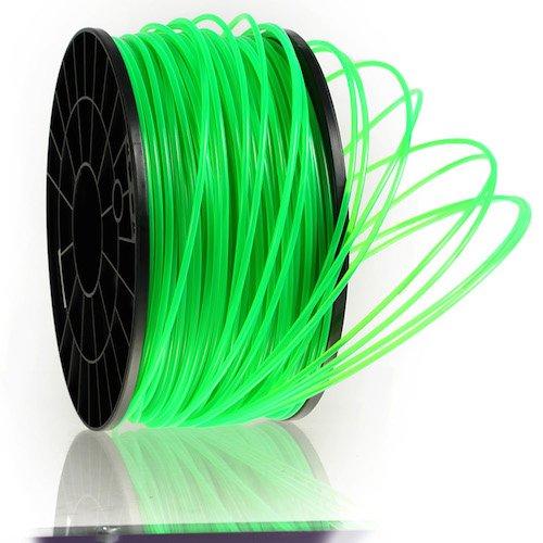 Kaisertech filament voor 3D-printer Transparant Edition 1kg PLA/ABS 1,75mm / 3mm - Premium kwaliteit en verschillende kleuren voor MakerBot RepRap MakerGear Ultimaker en nog veel meer., PLA 1.75mm, Transparent Grün, 1