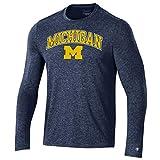 Champion NCAA Michigan Wolverines Men's Field Day Long Sleeve Tee, 2X-Large, Navy