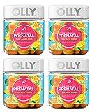 Olly ERUJDWLA Essential Prenatal Multivitamin Gummy Supplement FOLIC Acid + Omega-3s, Vibrant Citrus, 60 Count, Pack of 4