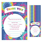 Tie Dye Fill In Thank You Cards (25 Count) With Envelopes Bulk Birthday Party...