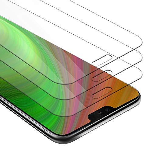 Cadorabo 3X Panzerglasfolie für Nokia 7 Plus - Schutzfolie in KRISTALL KLAR - 3er Pack Gehärtet (Tempered) Bildschirmschutz Glas in 9H Festigkeit mit 3D Touch Kompatibilität