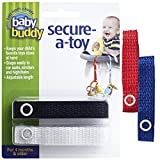 Baby Buddy 4 Piece Secure-A-Toy, Royal/Red/White/Black