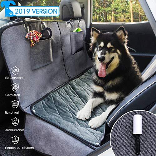 GLAMFIELDS Hundedecke für Auto rückbank Wasserdicht Waschbar autoschondecke Hund rücksitz, autodecke für Hunde rückbank, Kratzfest rutschfeste autoschutzdecke,mit seitenschutz und Samt (L Size)