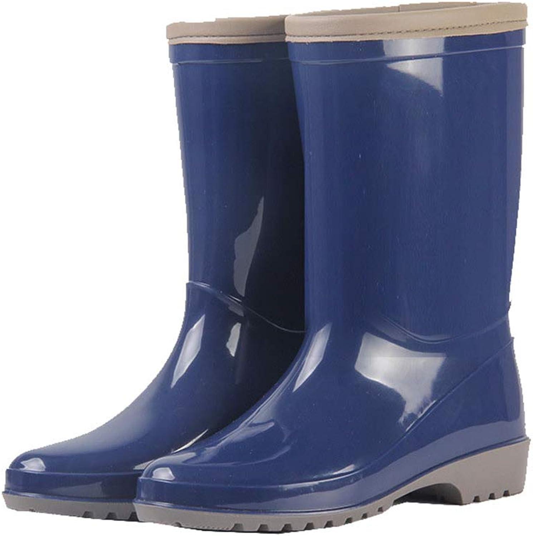 Excellent.c Classic Long Water shoes Women's rain Boots Rubber shoes