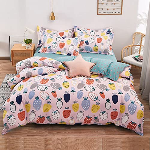 UKKO revestimientos de Cama 100% Skin-Friendly Four-Piece Bed Sheet Quilt Cover Three-Piece Single Quilt Cover In Student Dormitory