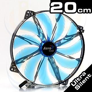 Aerocool Silent Master - Ventilador para Caja de Ordenador (3.5 A, 12 V, 3 W, 200 mm), Azul