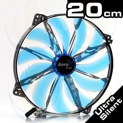 Gehäuselüfter AeroCool 200 * 200 * 25 Silent Master Blue LED
