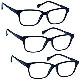 Uv Reader Blu Navy Leggero Occhiali Da Lettura Valore 3 Pacco Stile Designer Uomo Donna Astuccio Compreso Uvr3Pk027 +1,50 - 88 Gr