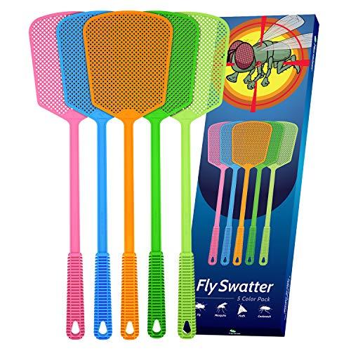 Kensizer 5-Pack Plastic Heavy-Duty Fly Swatters