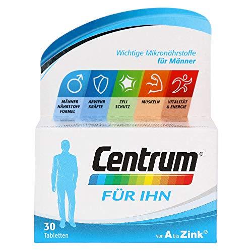 Centrum Für Ihn – Hochwertiges Nahrungsergänzungsmittel mit Mikronährstoffen – Speziell für Männer – Vitamine, Mineralstoffe, Spurenelemente – 1 x 30 Tabletten