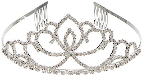 Katara 1673 Diadème Nuptial De Princesse, Tiare Serre-tête en Strass Avec Peignes, Pour Mariée Ou Demoiselle D'Honneur