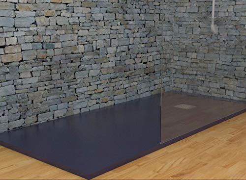 MASAL TECH DESING - Plato de ducha ANTRACITA 100x80 cm, antideslizante y de fácil colocación.