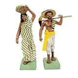 Hight – 9inch Big Size - Farmer Couple Human Figure Top Class Artisan Expertise of villagers of Krishnanagar –West Bengal. Those who maintain this art generation by generation. Size - 22.8 * 12.7 * 15.24 cm ( H * W * L ) Miniature Clay Craft , Long L...