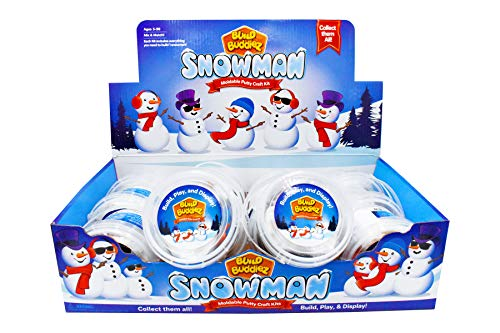 Build Buddiez Snowman Craft Kit 12 Pack - 12 Putty Party Pack Great for Christmas, Birthdays, Events, and Winter Activities