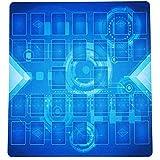テネセシート 遊戯王 ラバー プレイマット 60cm×60cm リンク召喚対応 二人用 収納ケース付き