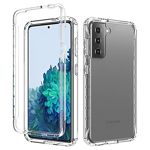 Tianyan Funda Samsung Galaxy S21 Ultra 5G,360 Grados Full Body Anti-Shock [Suave TPU Silicona Delantera y PC Duro Trasera] 2 in 1 Protectora Carcasa Fundas para Samsung Galaxy S21 Ultra,Transparente