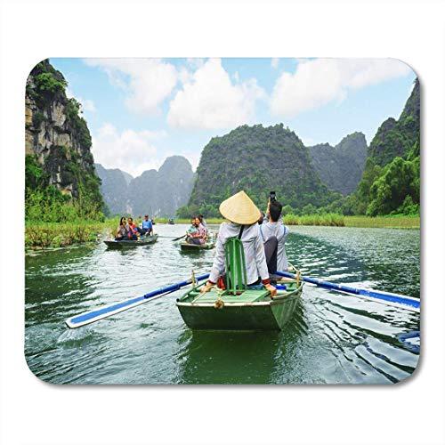 NA Tappetino per Mouse Ninh Binh Province Vietnam 14 Ottobre turisti in Viaggio Mousepad per Notebook, Computer Desktop tappetini per Mouse, Forniture per Ufficio