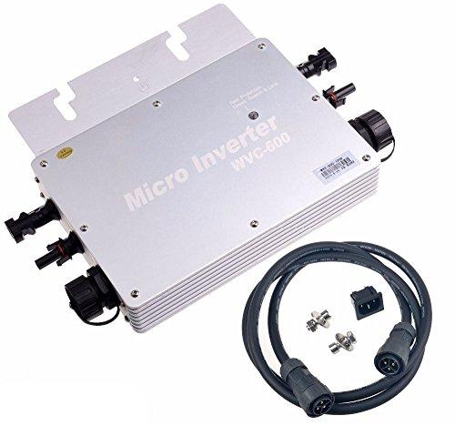 Y & H 600W MPPT Wasserdicht Grid Tie Inverter PowerShot S3IS–50V auf AC230V für 36V Solar Panel wgti-600W-230V