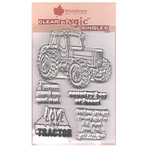Woodware Clear Stamps Traktor 5 Stück