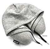 HoodiePillow Memory Foam Travel Pillows (Gray)